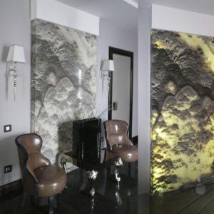 Световые инсталляции из оникса