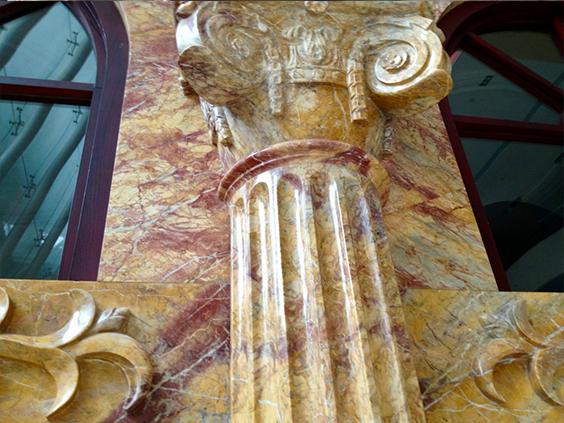 Колонны из натурального камня